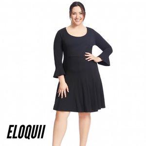 NWOT ELOQUII Fit & Flare Black Dress
